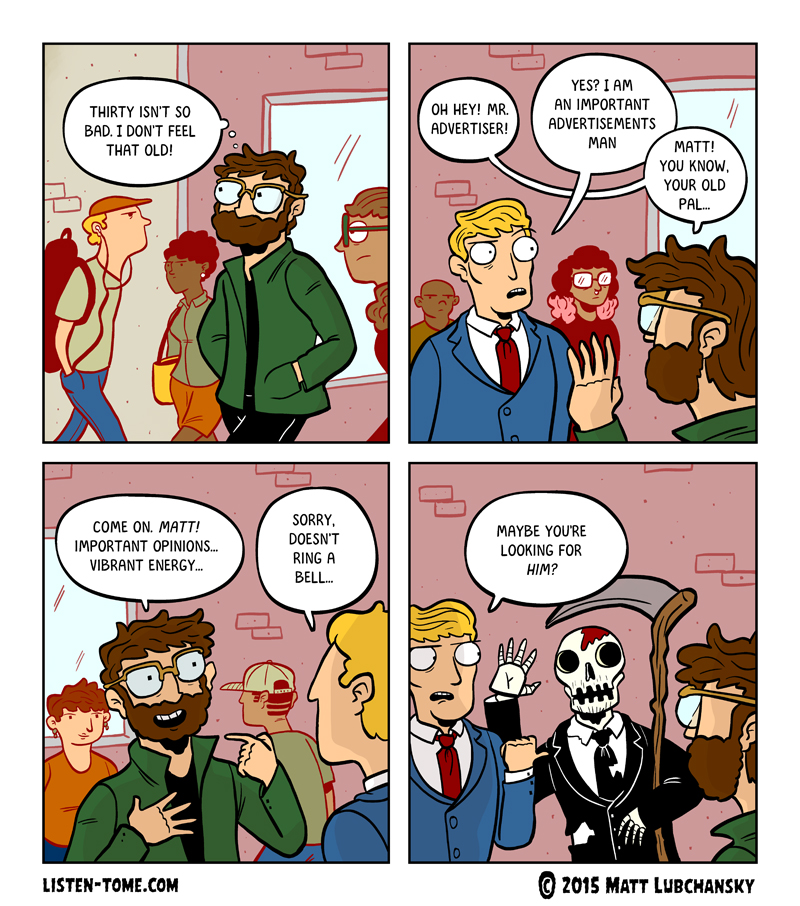 oh wow another comic about dying real original
